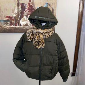 Lucky brand new puffer  green jacket size M